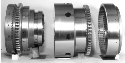 Synchronous Clutch Coupling - key internal elements